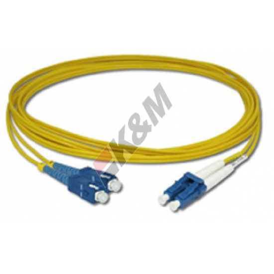 SCPC untuk LC PC SM DX G652D 2,0 MM LSZH kabel Patch